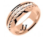 Rose Gold Ivy Leaf Wedding Band 8mm RG-271
