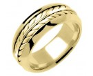 Yellow Gold Ivy Leaf Wedding Band 8mm YG-271