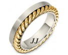 Two Tone Gold Wedding Band 5.5mm TT-272A