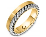 Two Tone Gold Wedding Band 5.5mm TT-272B
