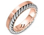 Two Tone Gold Wedding Band 5.5mm TT-272C