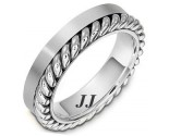White Gold Wedding Band 5.5mm WG-272