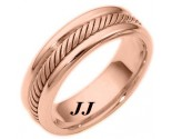 Rose Gold Wedding Band 6.5mm RG-274