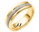 Two Tone Gold Wedding Band 6.5mm TT-274A
