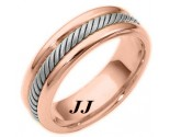 Two Tone Gold Wedding Band 6.5mm TT-274C