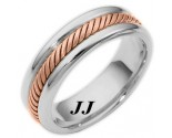 Two Tone Gold Wedding Band 6.5mm TT-274D