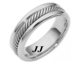 White Gold Wedding Band 6.5mm WG-274