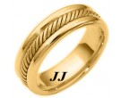 Yellow Gold Wedding Band 6.5mm YG-274