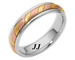 Tri-Color Gold Wedding Band 5mm TC-275
