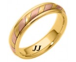 Tri-Color Gold Wedding Band 5mm TC-275B