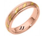 Tri-Color Gold Wedding Band 5mm TC-275C