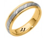 Two Tone Gold Wedding Band 5mm TT-275C