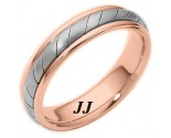 Two Tone Gold Wedding Band 5mm TT-275D