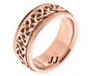 Rose Gold Wedding Band 9mm RG-295