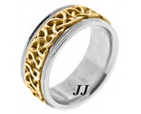 Two Tone Gold Wedding Band 9mm TT-295A