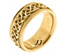 Yellow Gold Wedding Band 9mm YG-295