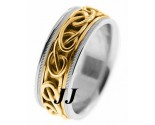Two Tone Gold Wedding Band 8mm TT-296A