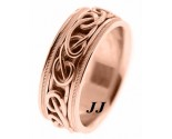 Rose Gold Wedding Band 8mm RG-296