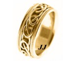 Yellow Gold Wedding Band 8mm YG-296