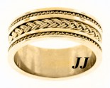Yellow Gold Dual Braided Wedding Band 10mm YG-300