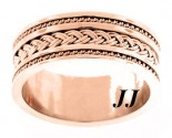 Rose Gold Dual Braided Wedding Band 10mm RG-300