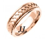 Rose Gold Hand Braided Wedding Band 7mm RG-358