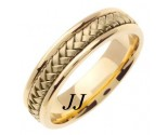 Yellow Gold Hand Braided Wedding Band 5.5mm YG-361