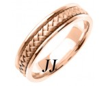 Rose Gold Hand Braided Wedding Band 5.5mm RG-361