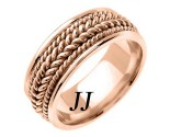 Rose Gold Hand Braided Wedding Band 8.5mm RG-362