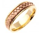 Two Tone Hand Braided Wedding Band 7mm TT-358D