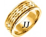 Yellow Gold Hand Braided Wedding Band 8mm YG-369