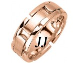 Rose Gold Link Wedding Band 8mm RG-370