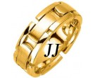 Yellow Gold Link Wedding Band 8mm YG-370