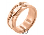 Rose Gold Hand-Made Wedding Band 9mm RG-375