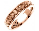 Rose Gold Diamond Back Wedding Band 6mm RG-451