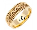 Yellow Gold Hand Braided Wedding Band 7mm YG-455