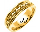 Yellow Gold Bow-Tie Braided Wedding Band 6mm YG-460