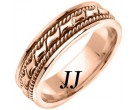 Rose Gold Bow-Tie Braided Wedding Band 6mm RG-460