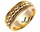 Yellow Gold Bow-Tie Braided Wedding Band 8mm YG-461