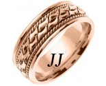 Rose Gold Bow Tie Braided Wedding Band 8mm RG-461