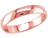 4mm Plain Rose Gold Light Wedding Band PLNLRB-4mm