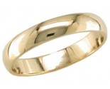 4mm Plain Yellow Gold Light Wedding Band PLNLYB-4mm