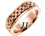 Rose Gold Pebble Wedding Band 7mm RG-551