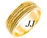 Yellow Gold Hand Braided Wedding Band 7mm YG-553