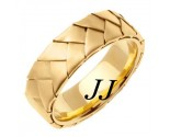 Yellow Gold Hand Braided Wedding Band 7mm YG-554
