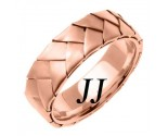 Rose Gold Hand Braided Wedding Band 7mm RG-554