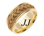Yellow Gold Sailor Braid Wedding Band 9mm YG-556