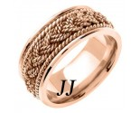 Rose Gold Sailor Braid Wedding Band 9mm RG-556
