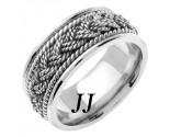 White Gold Sailor Braid Wedding Band 9mm WG-556