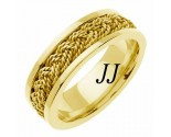 Yellow Gold Sailor Braid Wedding Band 6mm YG-557